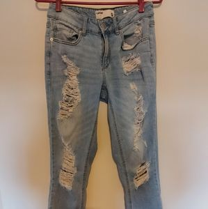 Ladies Garage skinny ripped jeans size 0